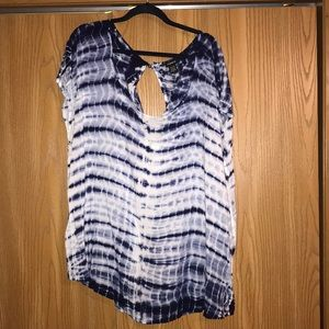 Torrid 3x Tie Dye Button up Back Top!